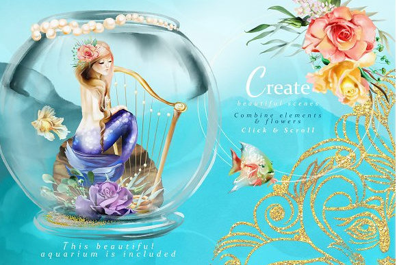 Print on Demand: The Mermaids Heaven Graphic Illustrations By Anna Babich - Image 4