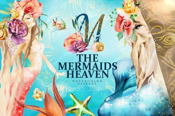 The Mermaids Heaven Graphic By Anna Babich