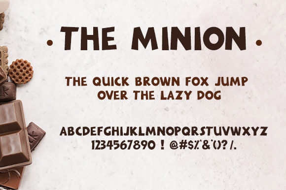 Print on Demand: The Minion Display Font By Docallisme  - Image 1