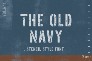 Print on Demand: The Old Navy Display Font By Pasha Larin