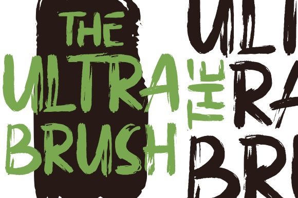 Print on Demand: The Ultra Brush Display Font By Garisman Studio