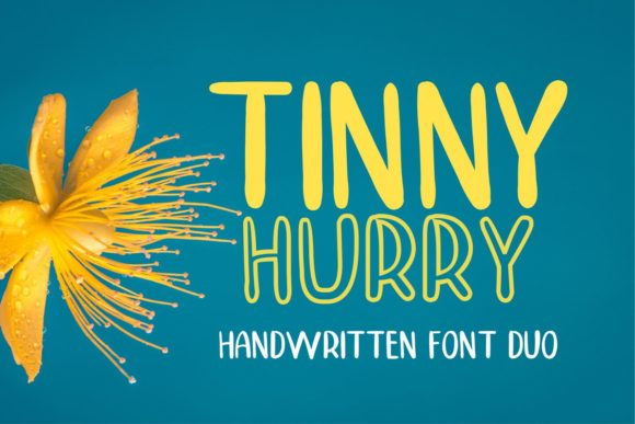 Print on Demand: Tinny Hurry Script & Handwritten Font By MJB Letters - Image 1