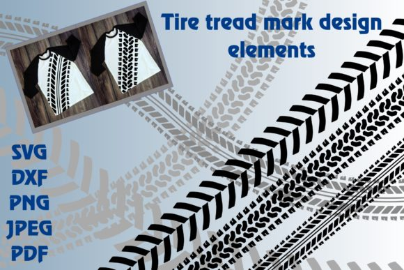 Download Free Tire Tread Design Elements Graphic By Unicorn Imaging Creative for Cricut Explore, Silhouette and other cutting machines.