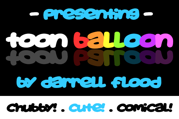 Print on Demand: Toon Balloon Display Font By Dadiomouse