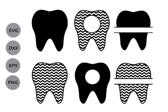 Download Free Tooth Monogram Graphic By Cosmosfineart Creative Fabrica for Cricut Explore, Silhouette and other cutting machines.