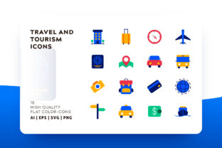 Travel and Tourism Icon Pack Graphic By Goodware.Std