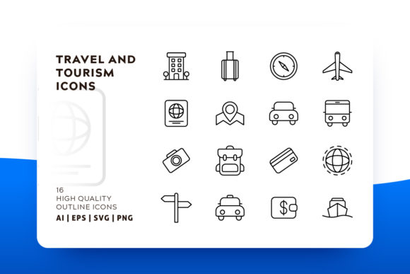 Travel and Tourism Icon Pack Graphic Icons By Goodware.Std