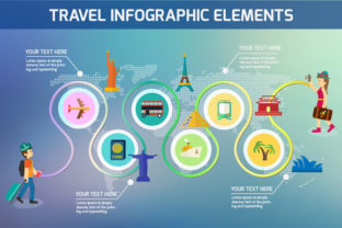 Print on Demand: Travel Infographic Elements Graphic Infographics By vito12