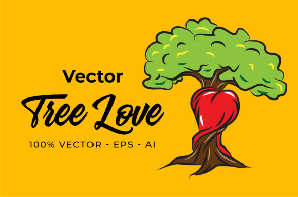 Print on Demand: Tree Love Graphic Illustrations By yantodesign