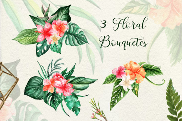Tropical Dream-watercolor Set Graphic By tregubova.jul Image 5