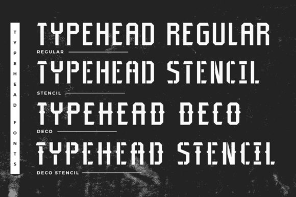 Print on Demand: Typehead Family Display Font By Headfonts - Image 7