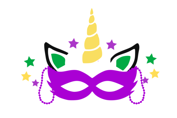 Download Free Unicorn Mardi Gras Digital Svg File Graphic By Auntie for Cricut Explore, Silhouette and other cutting machines.