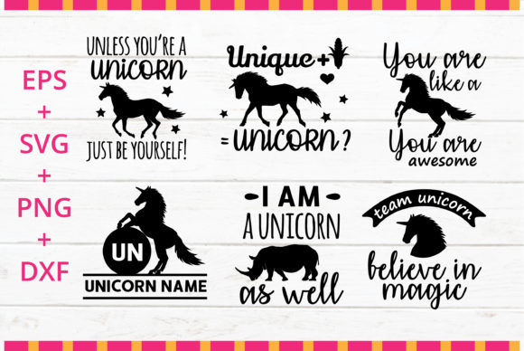 Print on Demand: Unicorn Quotes SVG Bundle Graphic Crafts By great19