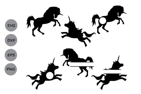 Download Free Unicorn Monogram Graphic By Cosmosfineart Creative Fabrica for Cricut Explore, Silhouette and other cutting machines.