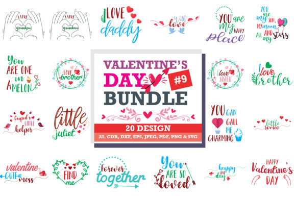 Download Free Valentine S Day Svg Bundle Graphic By Thelucky Creative Fabrica for Cricut Explore, Silhouette and other cutting machines.