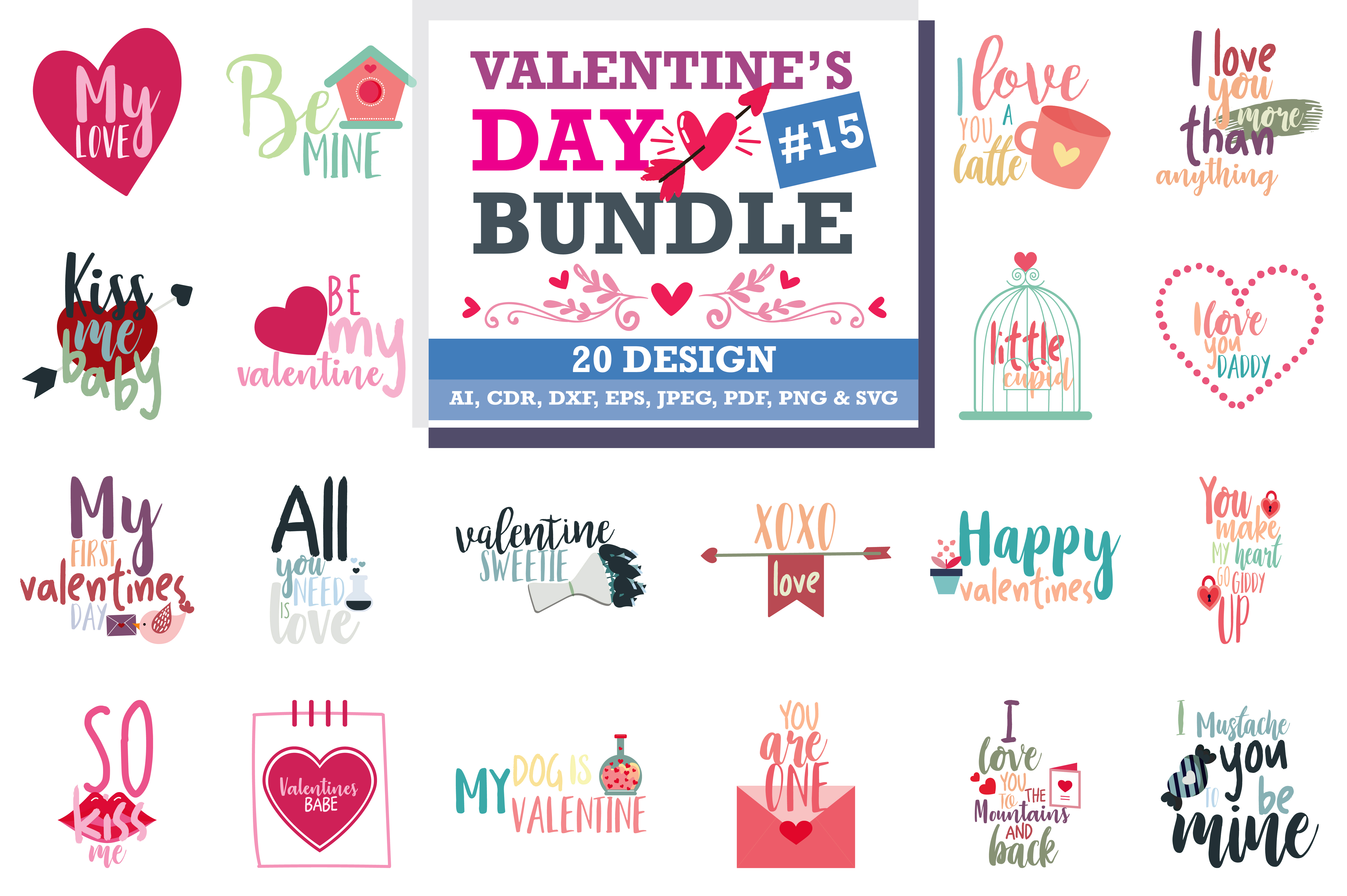 Valentine S Day Bundle Graphic By Thelucky Creative Fabrica