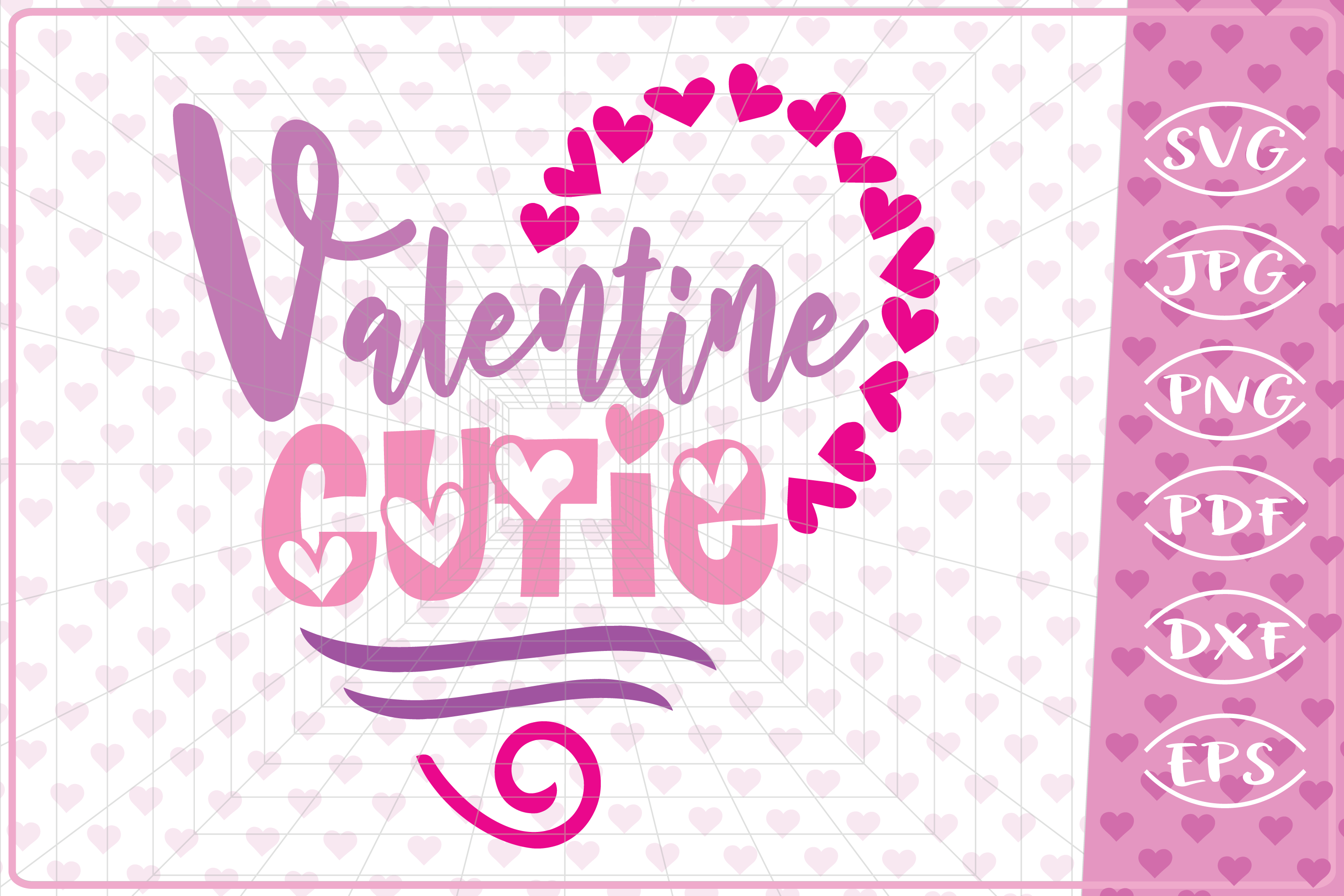 Download Free Valentine Cutie Graphic By Cute Graphic Creative Fabrica for Cricut Explore, Silhouette and other cutting machines.