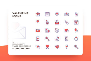 Valentine Filled Color Icon Pack Graphic By Goodware.Std