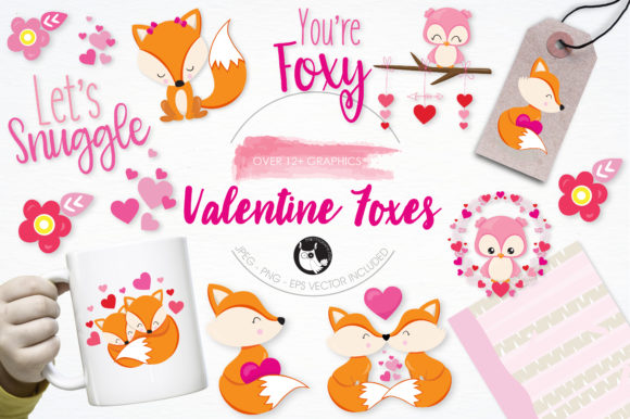 Print on Demand: Valentine Foxes Graphic Illustrations By Prettygrafik - Image 1