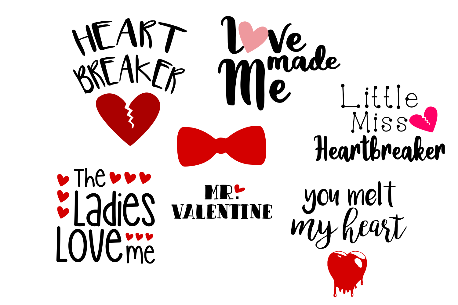 Download Free Valentine Bundle Graphic By Auntie Inappropriate Designs for Cricut Explore, Silhouette and other cutting machines.