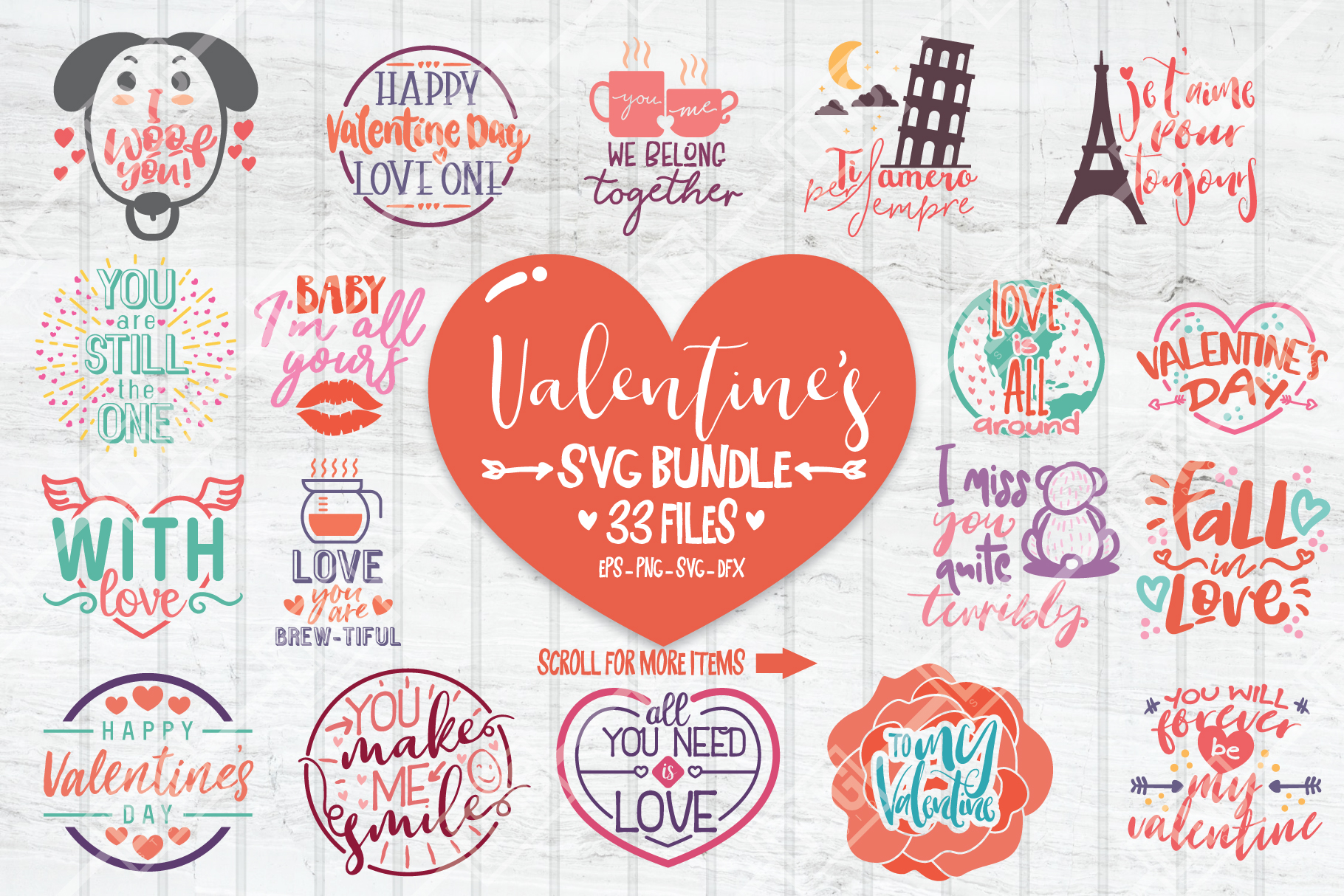 Download Free Valentine Bundle Graphic By Luluimanda82 Creative Fabrica for Cricut Explore, Silhouette and other cutting machines.