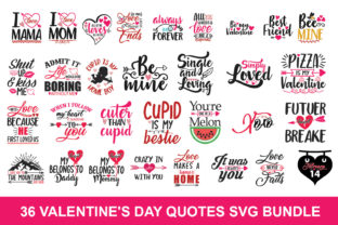 Download Free Valentine Bundle Graphic By Graphicsqueen Creative Fabrica for Cricut Explore, Silhouette and other cutting machines.