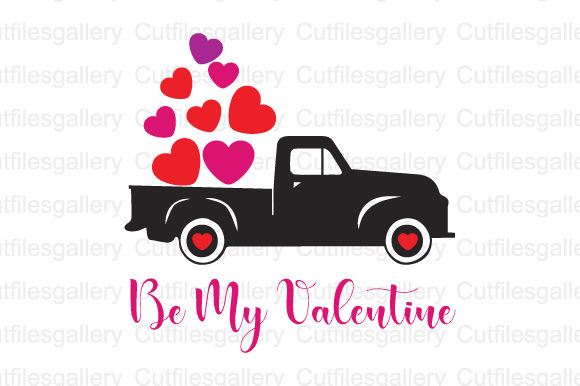 Download Free Valentine Truck Graphic By Cutfilesgallery Creative Fabrica for Cricut Explore, Silhouette and other cutting machines.