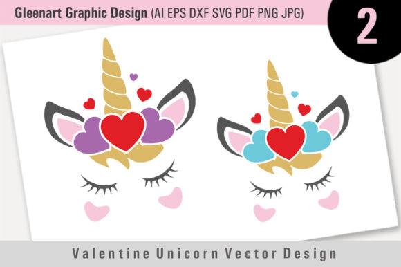 Valentine Unicorn Vector Design Graphic By Gleenart Graphic