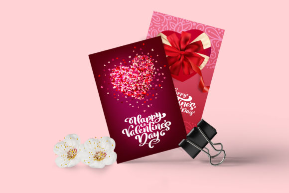 Valentine Vector Greeting Cards Graphic Illustrations By Happy Letters - Image 4