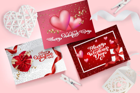 Valentine Vector Greeting Cards Graphic Illustrations By Happy Letters - Image 5