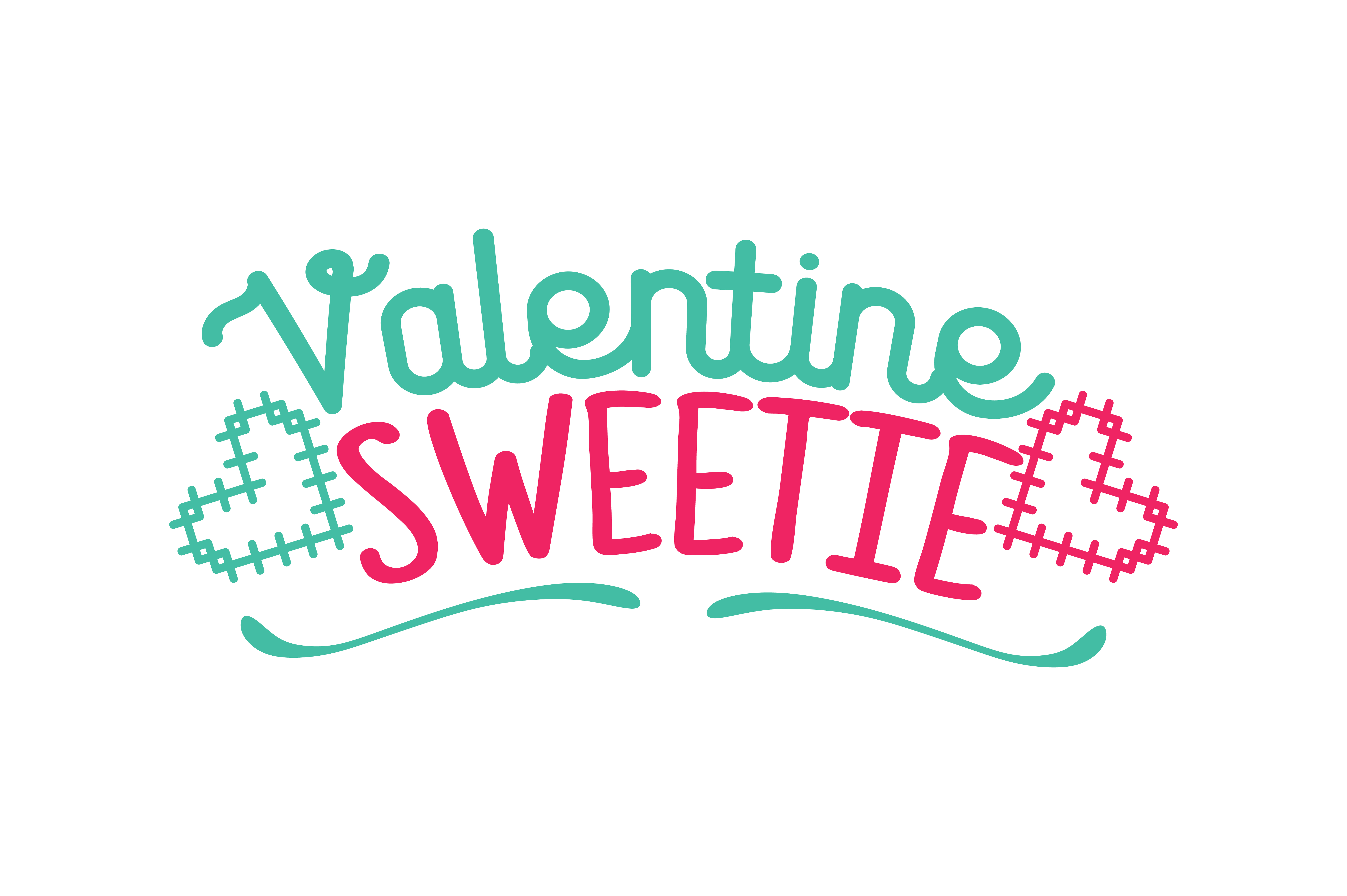 Download Free Valentine Sweetie Quote Svg Cut Graphic By Thelucky Creative for Cricut Explore, Silhouette and other cutting machines.