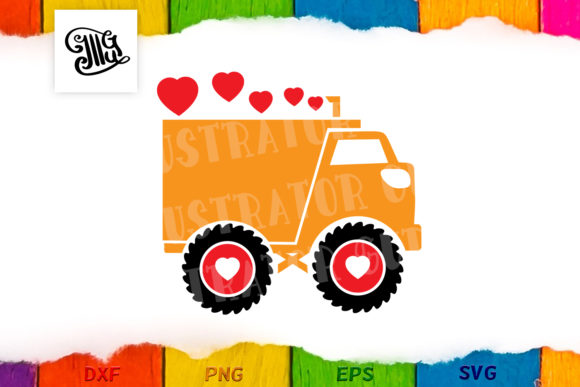 Download Free Valentine Truck Bundle Graphic By Illustrator Guru Creative for Cricut Explore, Silhouette and other cutting machines.