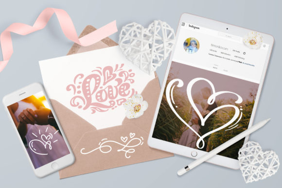 Valentine Vector Hand Draw Hearts Graphic By Happy Letters Image 3