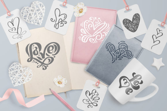 Valentine Vector Hand Draw Hearts Graphic Illustrations By Happy Letters - Image 4