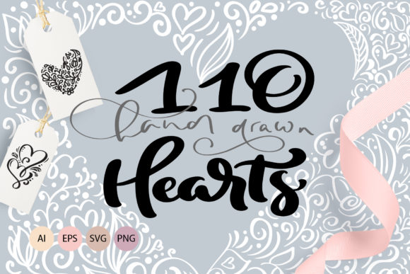 Valentine Vector Hand Draw Hearts Graphic Illustrations By Happy Letters
