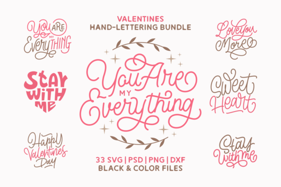 Print on Demand: Valentines Bundle Graphic Crafts By Momentos Crafter - Image 1