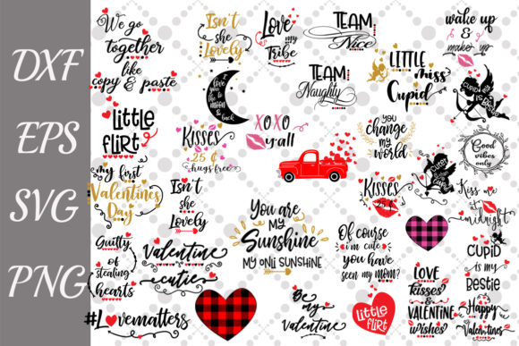 Valentine's Day Bundle Svg Graphic Crafts By prettydesignstudio