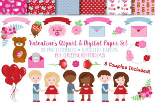 Valentine's Day Clipart Graphic By GreenLightIdeas