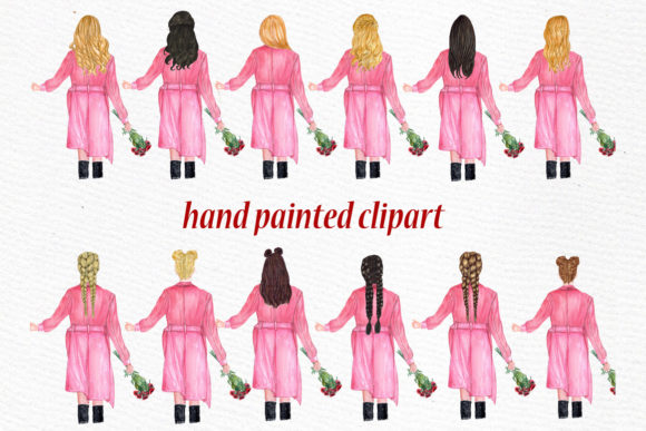 Valentines Day Girls Clipart Graphic Illustrations By LeCoqDesign - Image 2