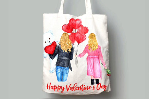 Valentines Day Girls Clipart Graphic Illustrations By LeCoqDesign - Image 8