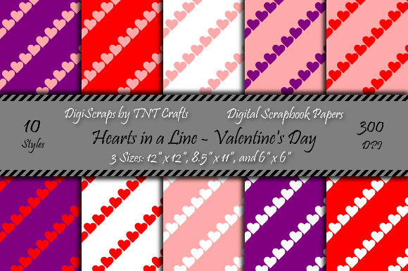 Download Free Valentine S Day Hearts Patterns Graphic By Tnt Crafts Creative Fabrica for Cricut Explore, Silhouette and other cutting machines.