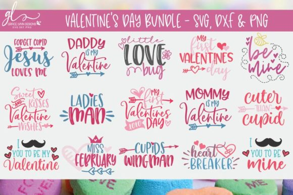 Valentine's Day Bundle Graphic Crafts By GraceLynnDesigns