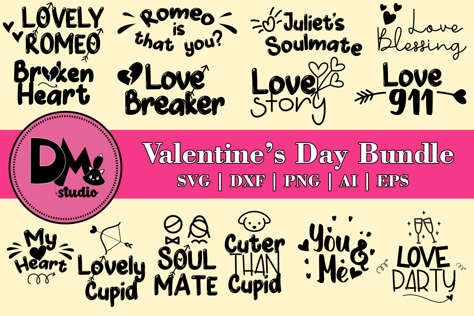 Download Free Valentine S Day Bundle Graphic By Patricia Dmstd Creative SVG Cut Files