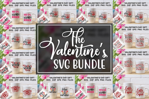 Valentine's Day SVG Bundle Graphic By Graphicsqueen Image 1