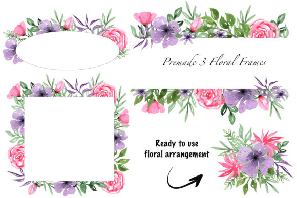 Print on Demand: Valentine's Day Watercolor Clipart Collection Graphic Illustrations By tanatadesign - Image 2