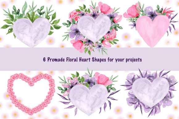 Print on Demand: Valentine's Day Watercolor Clipart Collection Graphic Illustrations By tanatadesign - Image 3