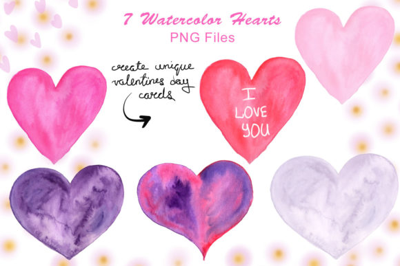Print on Demand: Valentine's Day Watercolor Clipart Collection Graphic Illustrations By tanatadesign - Image 5