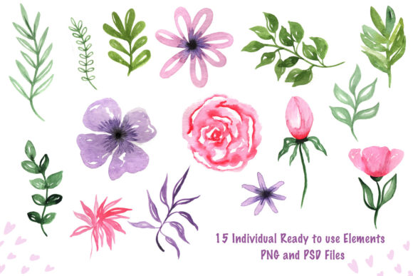 Print on Demand: Valentine's Day Watercolor Clipart Collection Graphic Illustrations By tanatadesign - Image 6