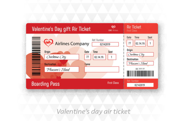 Valentine's Day Gift Card Graphic Illustrations By ApexDesign