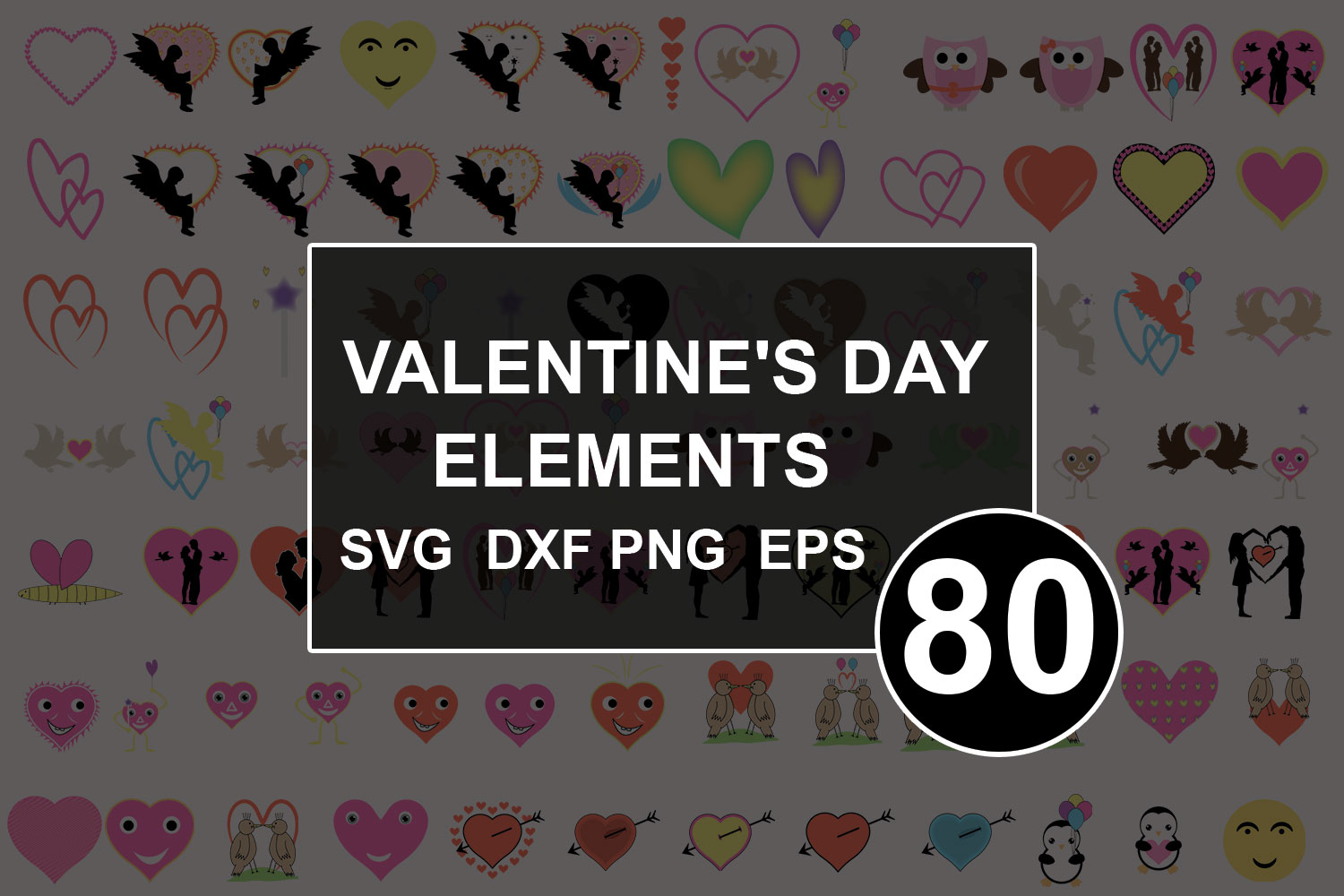 Download Free Valentines Icon Bundle Graphic By Graphicsqueen Creative Fabrica for Cricut Explore, Silhouette and other cutting machines.